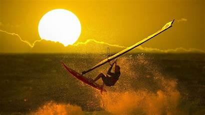 Windsurfing Wallpapers Stunning Sunset Surfing Desktop Mighty