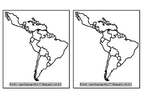 Suporte Geográfico: AMÉRICA MAPAS PARA COLORIR (com