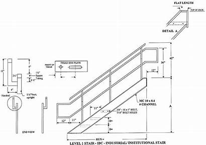 Stair Ibc Stairs Industrial Staircase Railing Drawing