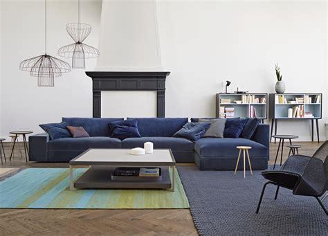 canapé convertible bleu canard exclusif sofas designer didier gomez ligne roset