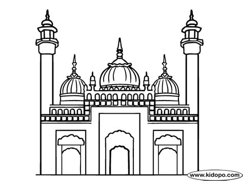 mosque coloring pages sketch coloring page