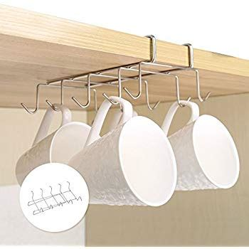 Cabinet Mug Rack by Newsoul1us Mug Holder Shelf Cup Hooks