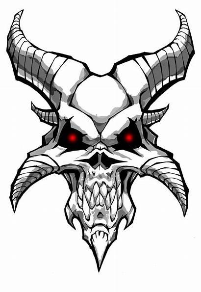 Demon Skull Clipart Clipartbest Demonic Tattoo
