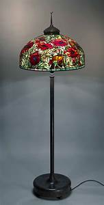 oriental poppy tiffany floor lamp With original tiffany floor lamp