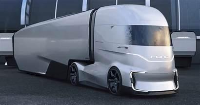 Ford Truck Future Vision Semi Tesla Electric