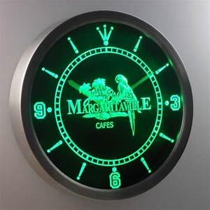 Jimmy Buffett s Margaritaville LED Neon Wall Clock