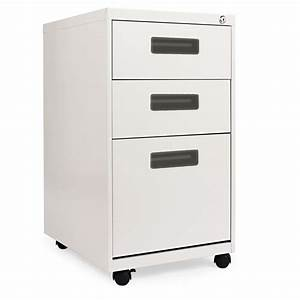 alerar three drawer metal pedestal file 14 7 8w x 19 1 8d With convert legal file cabinet to letter