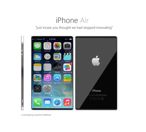 iphone air iphone air is an ultrathin slab of metal with edge to