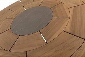 Table Ronde En Teck : brick table ronde by roda design gordon guillaumier ~ Teatrodelosmanantiales.com Idées de Décoration