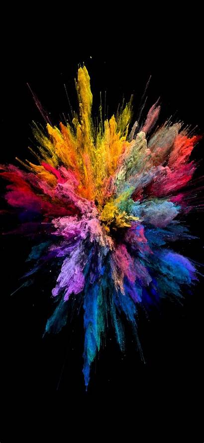 Iphone Wallpapers Explosion Colors Xs Phone Blast