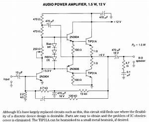 1 5w 12v Audio Amplifier - Amplifier Circuit
