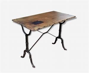 Table Bistrot Ancienne : table bistrot tr s ancienne bois et fonte fonte bois couleur classique 85901 ~ Melissatoandfro.com Idées de Décoration