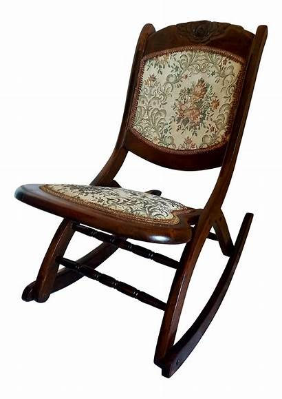 Rocking Chair Chairs Antique Folding Support Lumbar