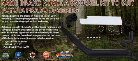 Name Brand Kokoda Snorkel Kit to Suit Toyota 80 Series