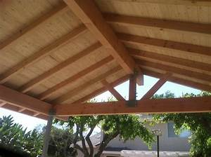 Wood Patio Covered Beam Exposed Cover Modern With Walls