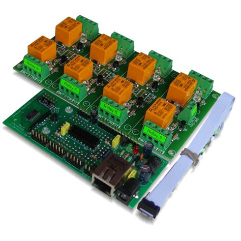 Internet Ethernet Eight Channel Relay Board Web Tcp