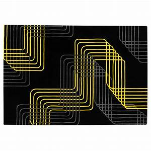 Tapis salon jaune tapis salon shaggy jaune 80 x 140 cm for Tapis shaggy avec canape d angle black friday