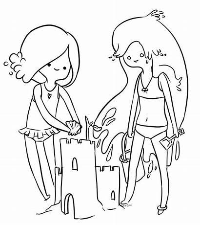 Adventure Coloring Pages Lady Marceline Rainicorn Printable
