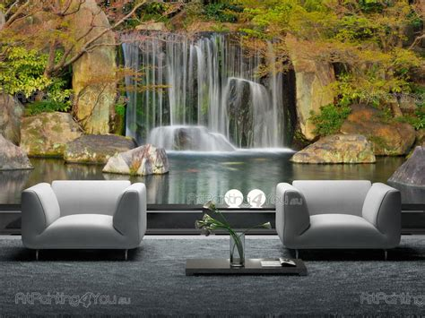 Wall Mural : Wall Murals & Posters Custom Size Tropical Waterfall