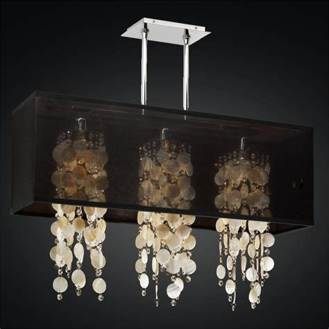 shaded chandelier rectangular shade chandelier oyster shell chandelier