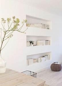 comment decorer le mur avec une belle etagere murale With couleur moderne pour salon 13 la bibliothaque murale en 65 photos inspirantes archzine fr