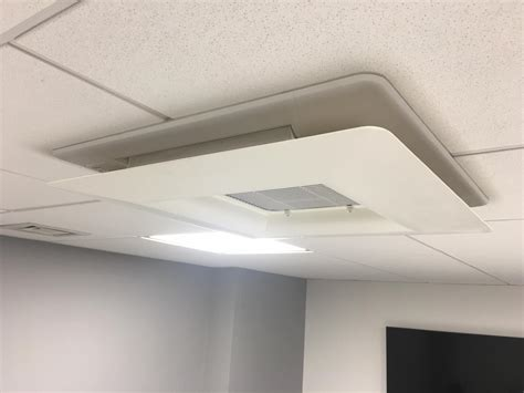 Office Ceiling Air Vent Deflector by Ceiling Mounted Cassettes Installation In Hoxton
