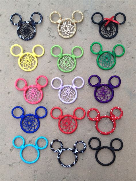 Mickey Mouse Dream Catcher Keychain Car