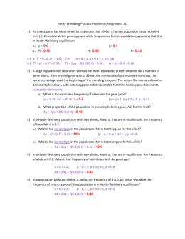 Hardy Weinberg Practice Problems Worksheet With Answers Worksheets Kristawiltbank Free