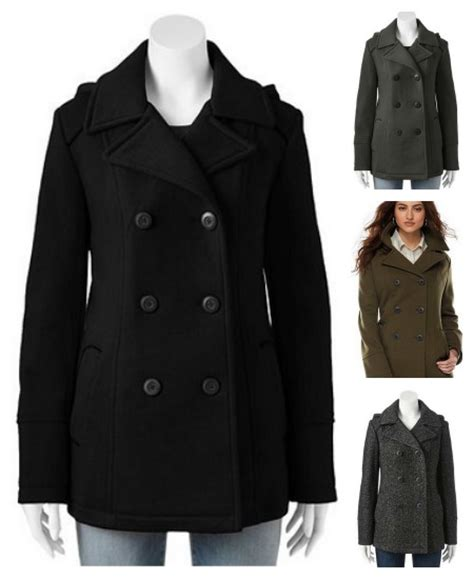hooded pea coats  women jacketin