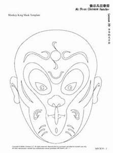 1000 images about chinese opera on pinterest monkey With kabuki mask template