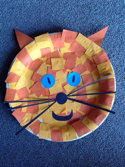 cat face paper plate craft crafts paper plate crafts