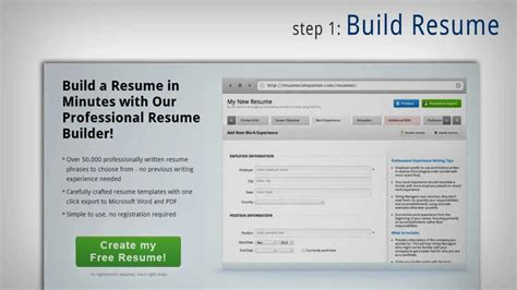Free Trial Resume Builder by Free Student Resume Builder Npo Resumes For America