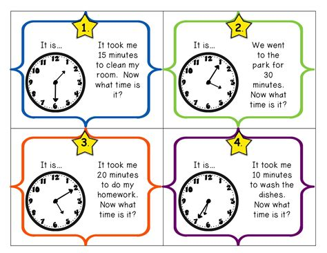 smiles grade telling time flash freebie proofreaders