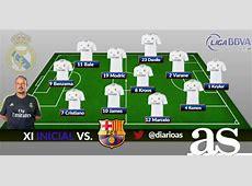 Real Madrid v Barcelona [Team Sheets] November 21, 2015