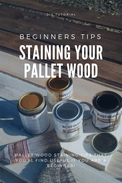 stain pallet wood tips  beginners  pallets