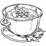 Soup Clipart Clip Stew Drawing Sketch Bowl Transparent Coloring Chowder Clam Fish Pages Market 이미지 대한 결과 검색 Bean Paintingvalley sketch template