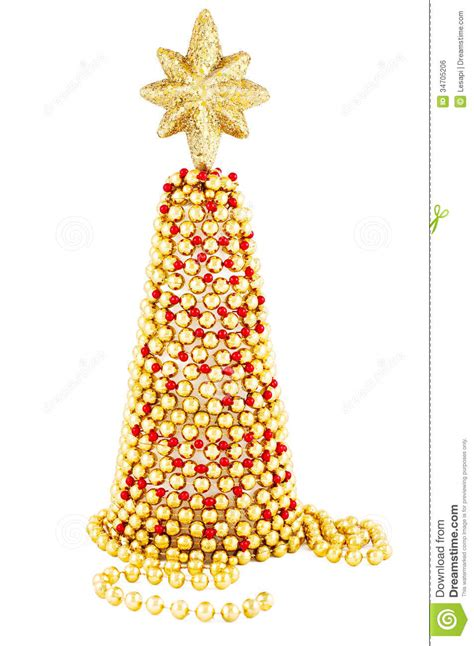 red  gold hand  christmas tree stock photo image