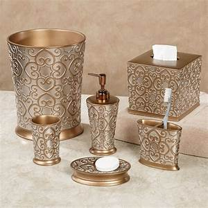 Allure silver and gold bath accessories for Gold and silver bathroom accessories