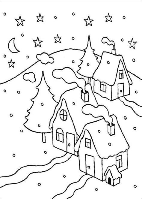 disegni  paesaggi invernali da colorare pagine da