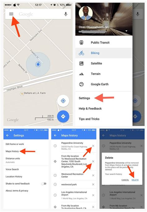 how to find and clear location history on iphone how to clear search and location history in maps on