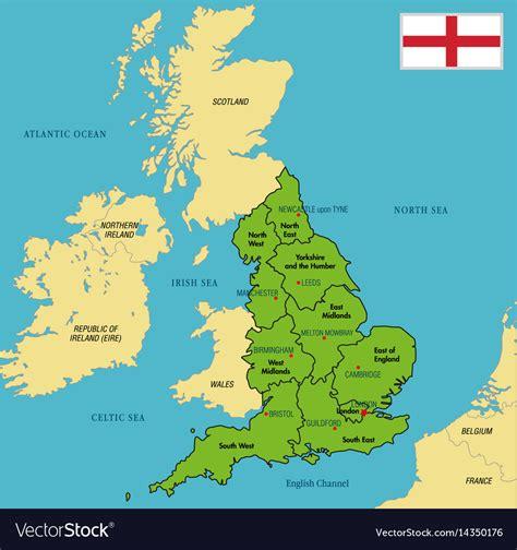 political map  england  regions royalty  vector