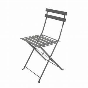 Chaise De Jardin Metal : 2 chaises pliantes de jardin en m tal guinguette maisons ~ Dailycaller-alerts.com Idées de Décoration