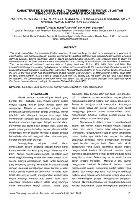 Contoh Jurnal Kimia Industri