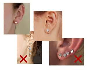 second ear piercing earrings dressing for a jewelry