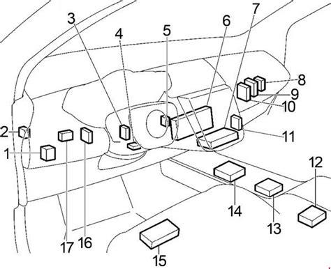 2009 Nissan Murano Fuse Box Diagram by Nissan Murano 2002 2007 Fuse Box Diagram Auto Genius
