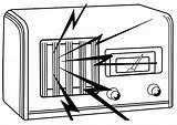 Radio Coloring Printable sketch template