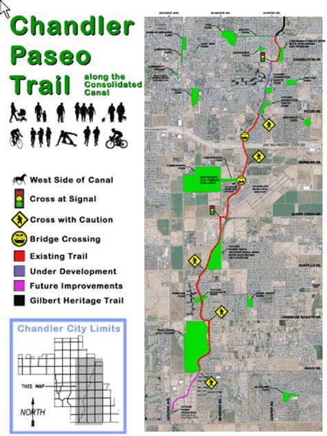 gilbert  chandler trail systems provide recreational
