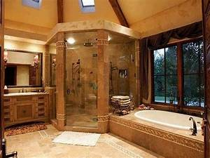 huge beautiful bathroom and round shower decor pinterest With big beautiful bathrooms