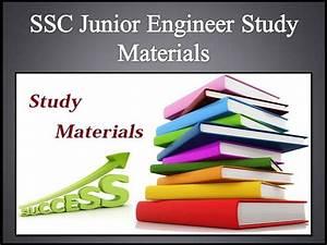 Ssc Junior Engineer Study Materials