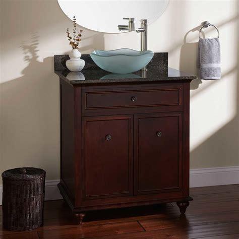 bathroom vanity with vessel sink 60 quot terrence vessel sink single vanity walnut bathroom